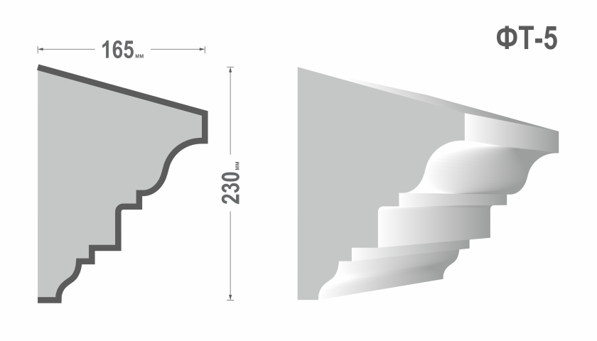 Фасадный молдинг (Тяга) фт-5