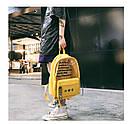 Молодежный рюкзак с прозрачными вставками желтый, фото 3