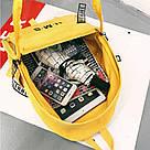 Молодежный рюкзак с прозрачными вставками желтый, фото 5