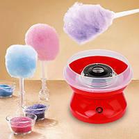 Аппарат для приготовления сладкой ваты Cotton Candy Maker + набор палочек в подарок Красный