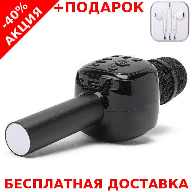 Микрофон  CHARGE K-310 черный Original size караоке динамик Bluetooth + наушники iPhone 3.5