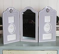Фотоколлаж тройной с зеркалом GM08-8142 фоторамка мультирамка рамка для фото коллаж