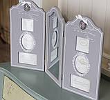 Фотоколлаж тройной с зеркалом GM08-8142 фоторамка мультирамка рамка для фото коллаж, фото 2