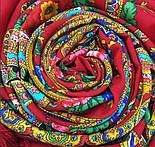 Любава 1289-5, павлопосадский платок шерстяной  с шерстяной бахромой, фото 5