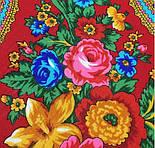 Любава 1289-5, павлопосадский платок шерстяной  с шерстяной бахромой, фото 6