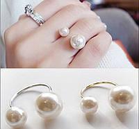 """Кольцо """"Жемчуг"""" реплика от Диор Dior в стиле шанель c серебристой основой."""