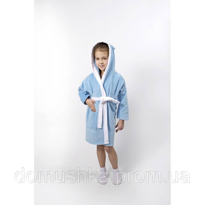 84e057613ea4 Халат детский хлопковый 11-12 лет Lotus - Зайка голубой - интернет-магазин