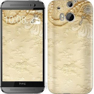 "Чехол на HTC One M8 dual sim Кружевной орнамент ""2160c-55-19380"""