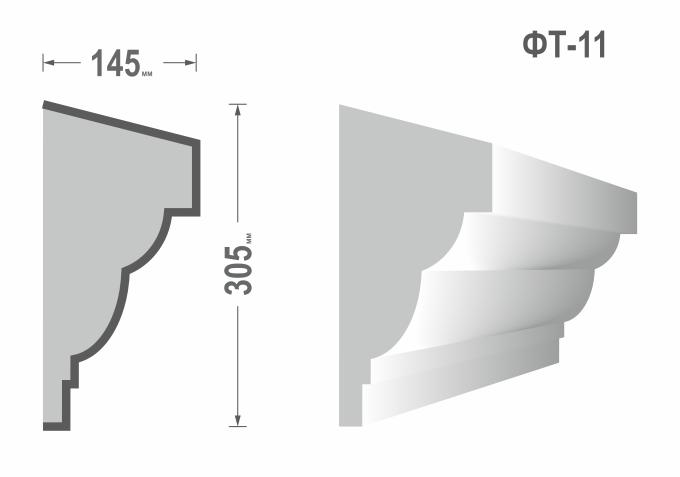 Фасадный молдинг (Тяга) фт-11