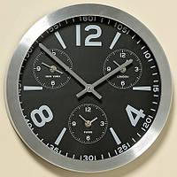 Часы Оклахома в серебре D35см 1005634