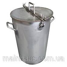 Емкость 130л с краном. Нержавеющая сталь AISI-304