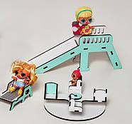 Горка для кукол ЛОЛ и пупсов мятная (kml005m), фото 2