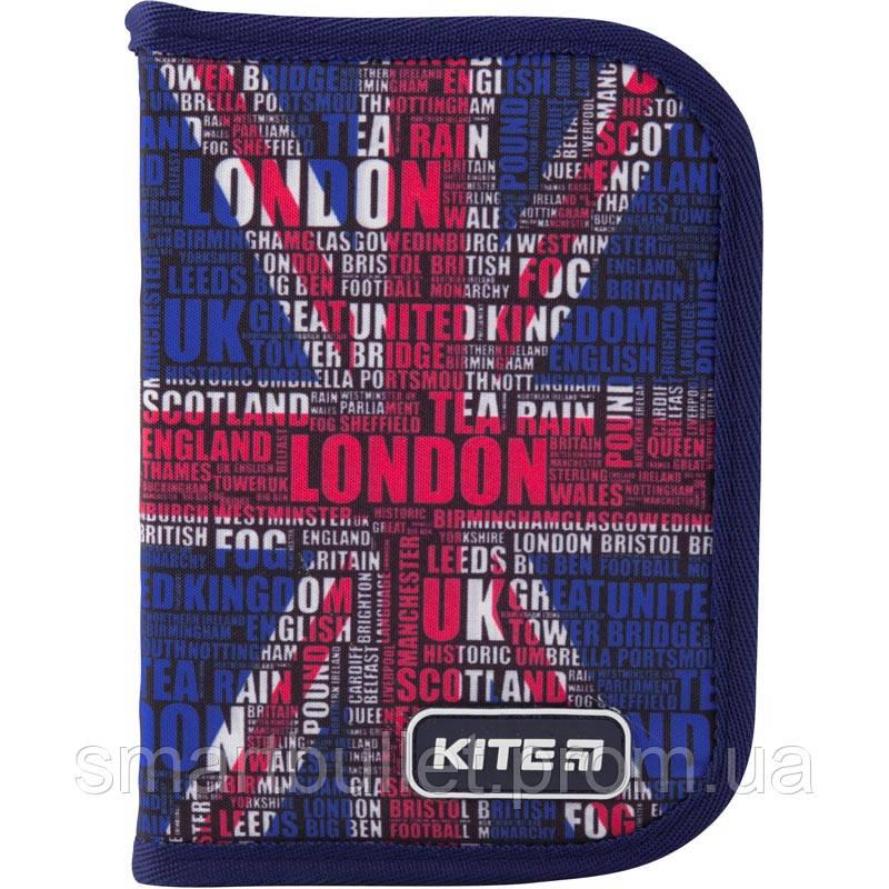 Пенал Kite Education London K19-621-7, 1 отделение, 1 отворот