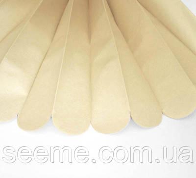 Паперові помпони з тишею «Parchment», діаметр 25 див.