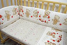 Детское постельное белье и защита (бортик) в детскую кроватку (мишка игрушки бежевый), фото 3