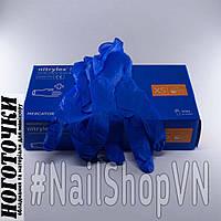 Перчатки Mercator Medical Nitrylex Basic Dark Blue нитриловые 100 штук