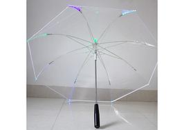 Прозрачный зонт с LED-подсветкой с функцией фонарика