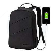 Рюкзак городской Bokun c USB-портом, универсальный рюкзак для работы, учебы, ноутбука