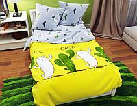 Комплект постельного белья семейный ранфорс на резинке 100% хлопок. (арт.12118)