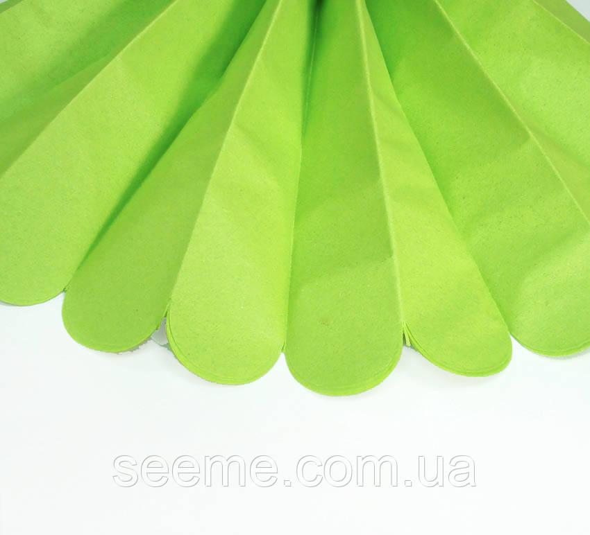 Бумажные помпоны из тишью «Citrus Green», диаметр 25 см.