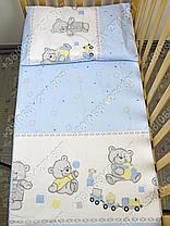 """Детское постельное белье в кроватку """"Бим Бом"""" комплект 5 ед. (мишка игрушки голубой), фото 3"""