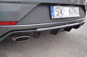 Диффузор заднего бампера накладка юбка тюнинг Seat Leon Mk3 Cupra рестайл