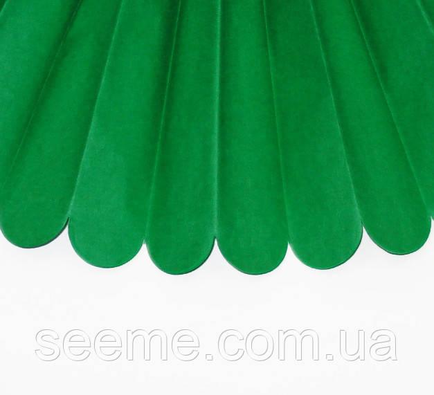 Бумажные помпоны из тишью «Kelly Green», диаметр 25 см.