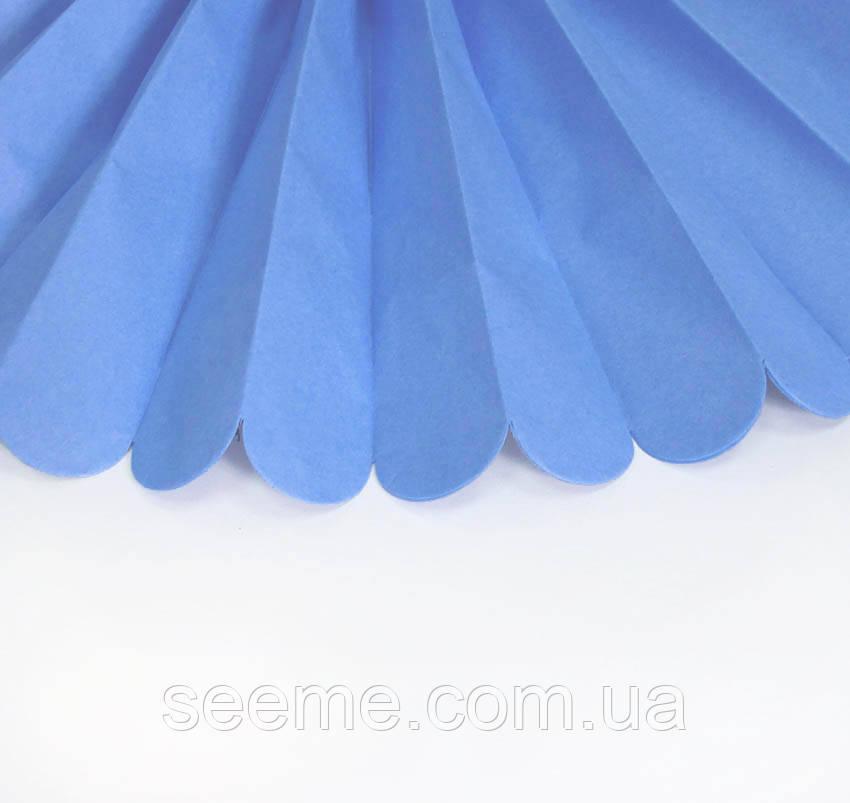 Паперові помпони з тишею «Pasific Blue», діаметр 25 див.