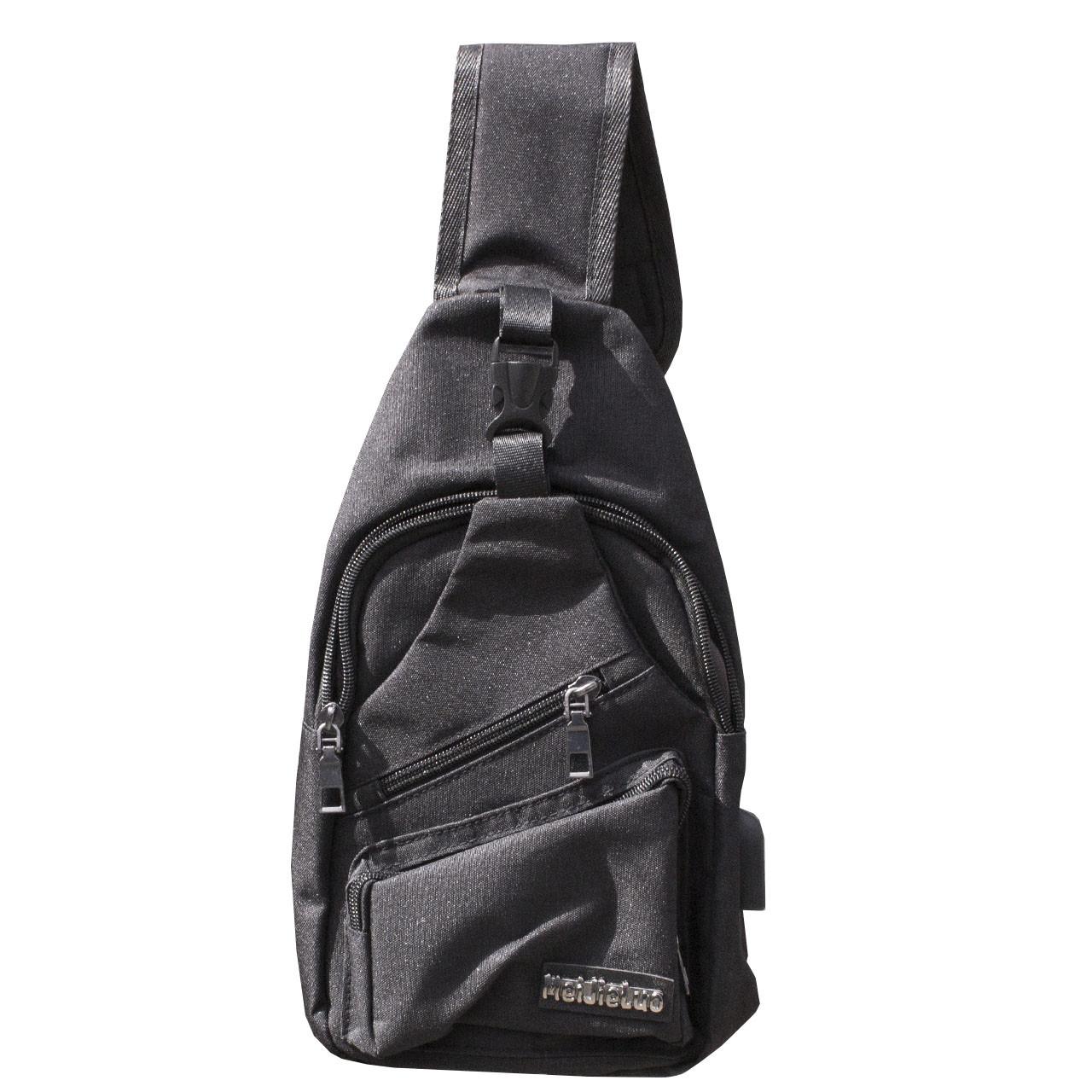 4ebce3485172 ➜Городской рюкзак Mei Jie luo Black однолямочный USB порт мужская сумка на  одно плечо спортивная