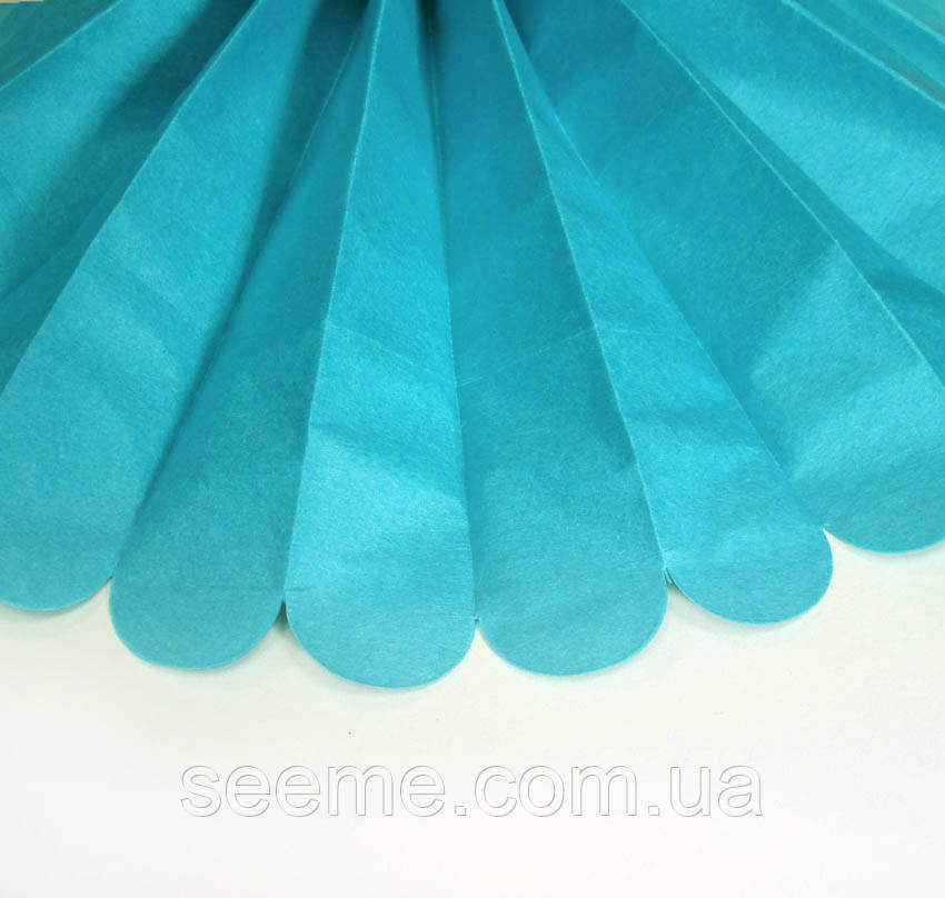 Бумажные помпоны из тишью «Aquamarine», диаметр 25 см.