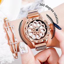 Женские часы с вращающимся циферблатом от 10шт
