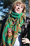 Венский вальс 1121-12, павлопосадский платок шерстяной  с шелковой бахромой, фото 4