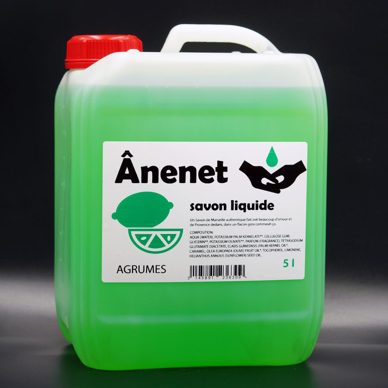 Рідке мило для рук 5 л Anenet аромат цитруса
