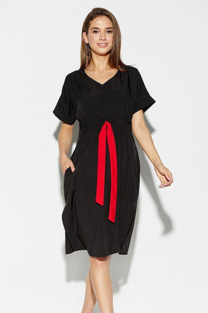 (L / 46-48) Повсякденне чорне жіноче плаття Elison
