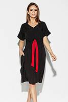L | Повсякденне чорне жіноче плаття Elison