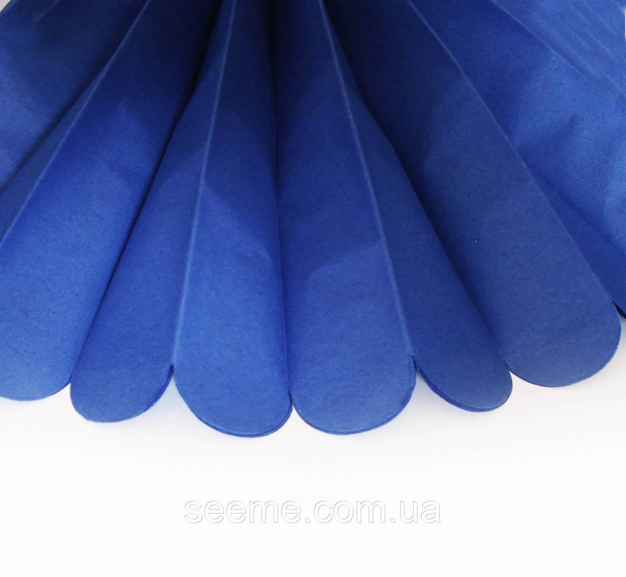 Бумажные помпоны из тишью «Dark Blue», диаметр 25 см