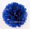 Бумажные помпоны из тишью «Dark Blue», диаметр 25 см, фото 2
