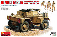 ДИНГО Мк.1Б Британский разведывательный бронеавтомобиль с экипажем. Сборная модель. 1/35 MINIART 35067