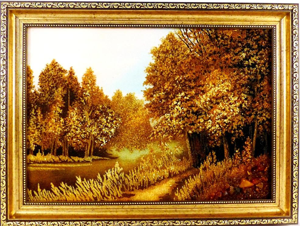 Картина Пейзаж П-723 30*40 с янтарем