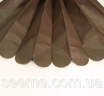Паперові помпони з тишею «Chocolate», діаметр 25 див.