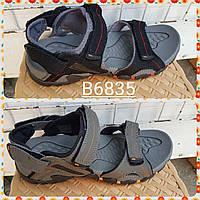 Подростковые сандали черные