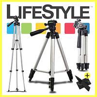 Штатив трипод для камеры и телефона WT-3110A (35-102 см)