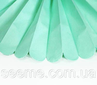 Паперові помпони з тишею «Cool Mint», діаметр 25 див.