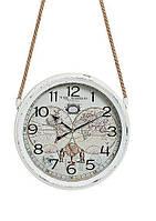 Часы настенные Винтаж металл стекло 8X30 см 10021827