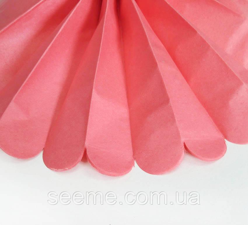Бумажные помпоны из тишью «Coral Rose», диаметр 25 см.
