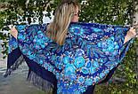 Признание 1462-14, павлопосадский платок шерстяной  с шелковой бахромой, фото 8