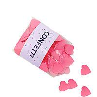 Конфетти Cердечки маленькие розовые 50 г