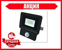 Светодиодный прожектор BIOM 10W S4-SMD-10-Slim+Sensor 6500К 220V IP65 с датчиком движения