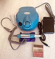 Фрезер для маникюра и педикюра Nail Drill Мощностью 50 Вт (Голубой)