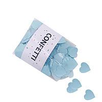 Конфетти Cердечки голубые 50 г маленькие